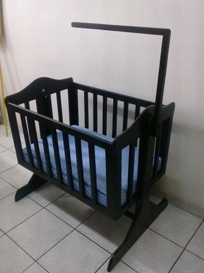 Cuna moises mecedora de madera 2 en mercado libre - Cunas rusticas para bebes ...