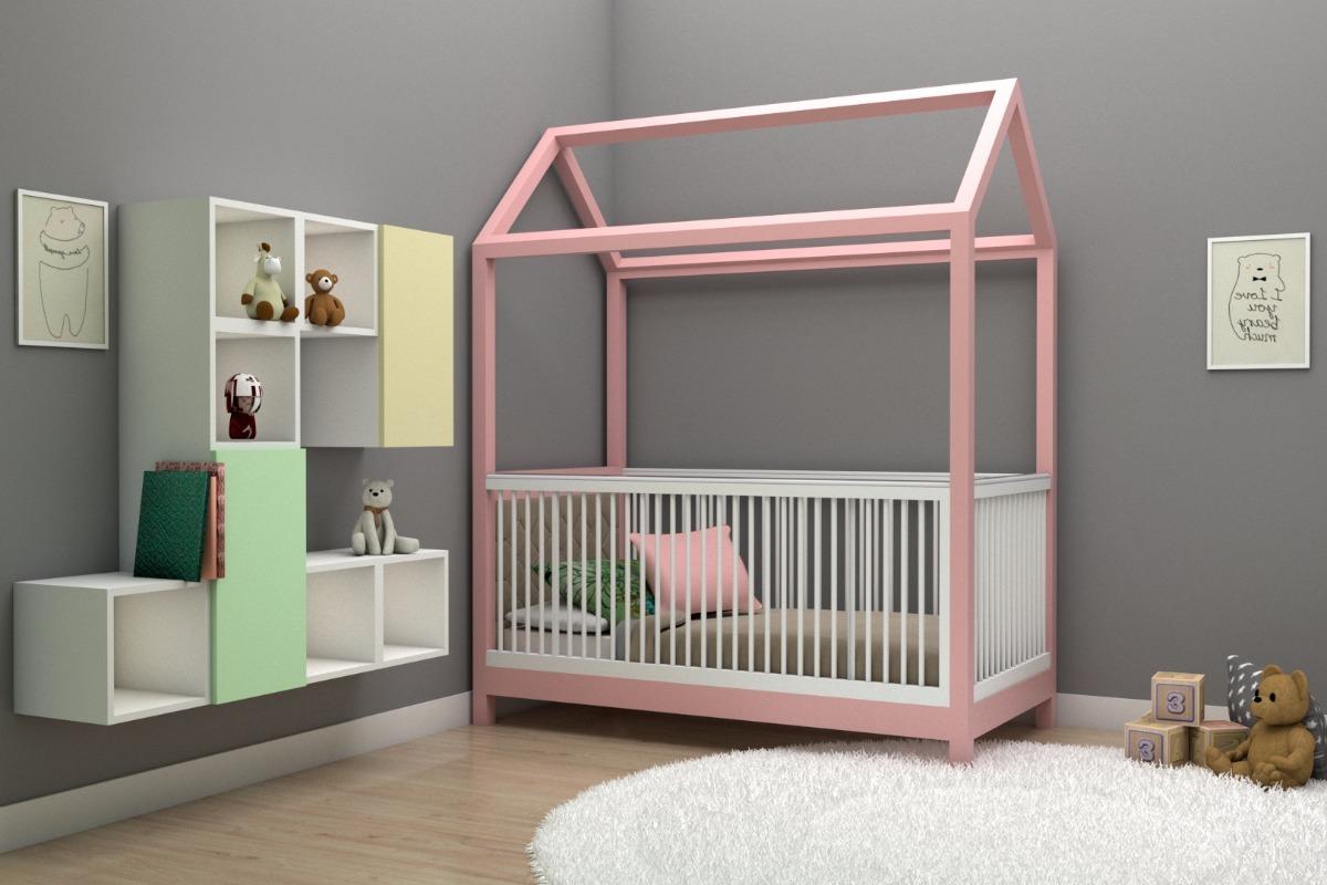 Cuna para beb cama entrenadora modelo casita decen - Modelo de cunas ...