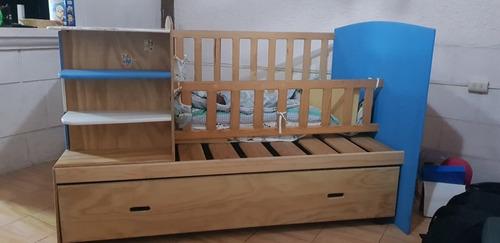 cuna para bebé con base de cama individual
