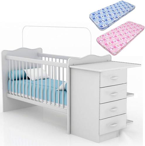 Cuna para beb con cambiador cajonera colch n 2 for Cuna con cambiador