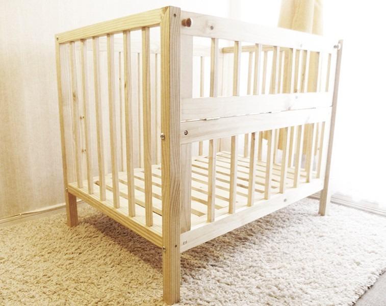 Cuna para bebe de madera s lida en mercado libre for Cunas para bebes de madera