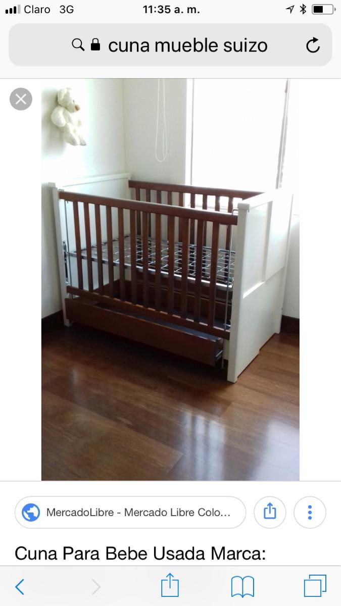 Cuna Para Bebe,wengue, Mueble Suizo - $ 900.000 en Mercado Libre