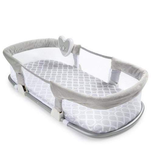 cuna plegable protección seguridad bebé desmontable gris