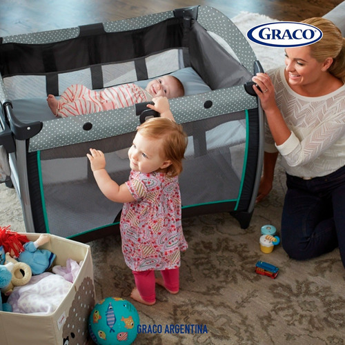 cuna practicuna graco pack'n play quick con bouncer