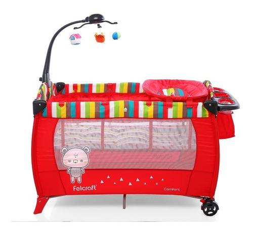 cuna practicuna plegable cambiador juguete porta objetos
