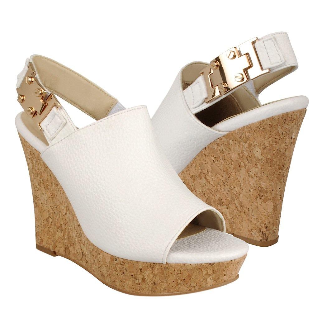 diseño de calidad 228e2 f8373 Cuñas De Vestir Para Mujer Simipiel Blanco 835-3-13