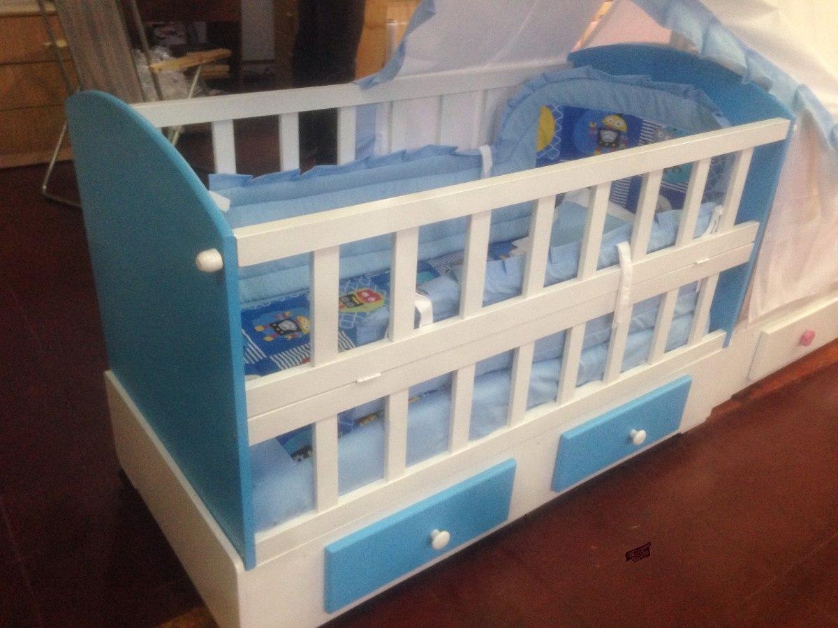 Cunas madera de 1 20 en mercado libre for Cunas para bebes de madera