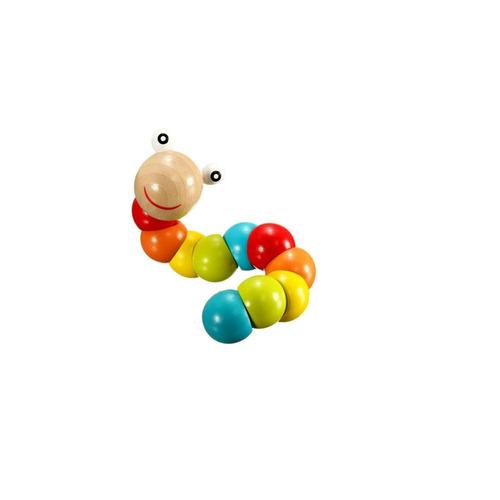 cuncuna didáctica de madera juguete bebes colores
