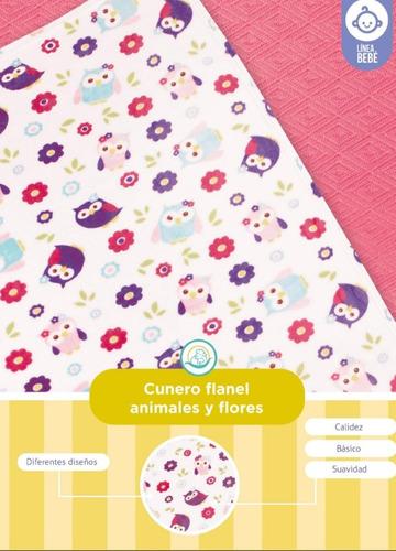 cunero cobija estampado flannel 100x70 cm modelo a elegir