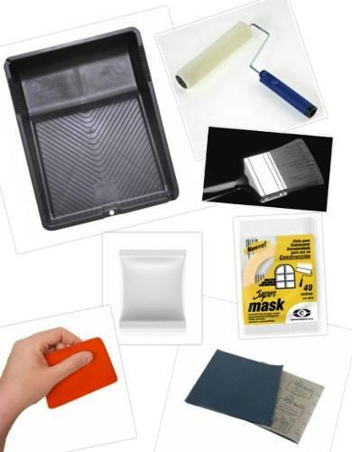 cuñete pintura lavable exterior o interior +7 accesorios