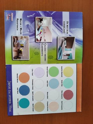 cuñetes de pintura  en caucho 4 galones  variados colores