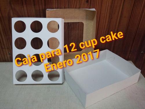 cup cake - cajas para 6 y 12 unidades