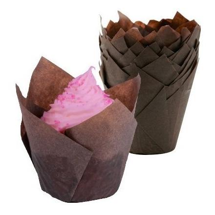 cupcake de tulipanes tulipanes tazas de hornear - 100 pzs.,