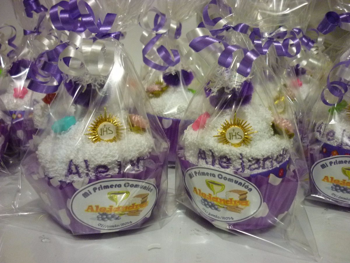 Cupcake recuerdo d toalla primera comunion xv a os bodas - Marcos para fotos economicos ...