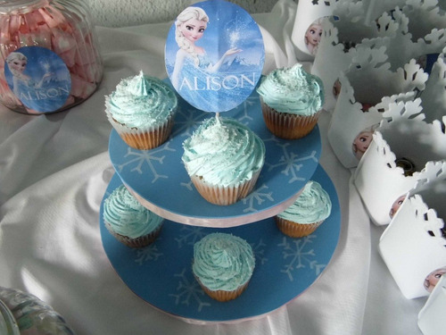 cupcakes con bizcocho de cupcakes!!! frozen