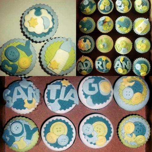 cupcakes decorados artesanales x12