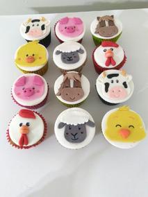 Cupcakes Decorados La Granja Muffins Cupcakes Infantiles