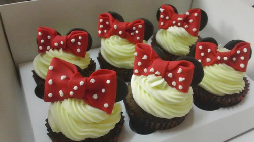 cupcakes decorados! minnie, mickey, piratas, jake, elegì!!!