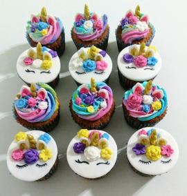 Cupcakes Decorados Unicornio Unicorn Muffins Madalenas