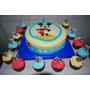 Torta Mickey O Minnie Mas 12 Cupcakes