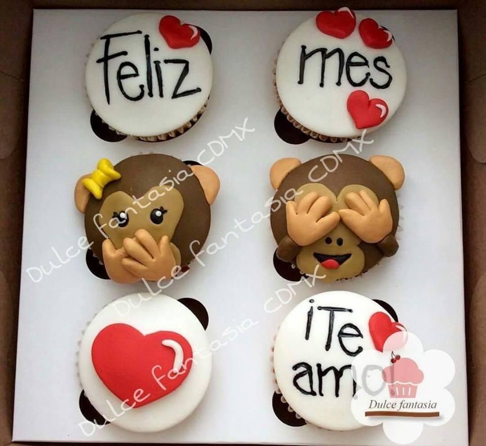 Cupcakes Novios Cupcakes Amor Cupcakes Te Amo 35 00 En Mercado