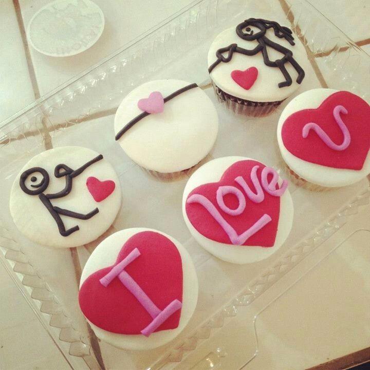 Cupcakes Novios Cupcakes Amor Cupcakes Te Amo 35 00