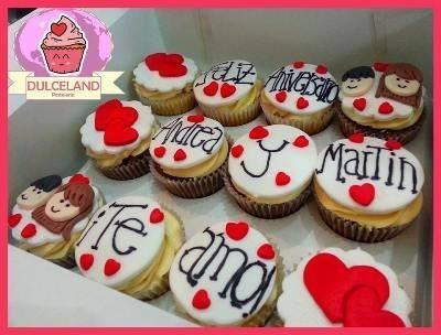 cupcakes san valentin. dia de los enamorados. a domicilio