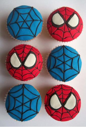 cupcakes spiderman para 6,8,10,12 personas o más