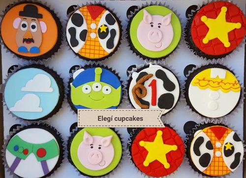 cupcakes temáticos rellenos de dulce/leche por docena