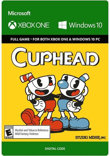 cuphead codigo digital xbox one y windows 10