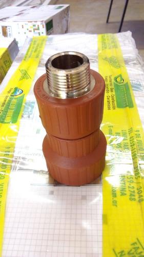 cupla reducción fusión h3 3/4 a 1´ pulgada termofusión c/met