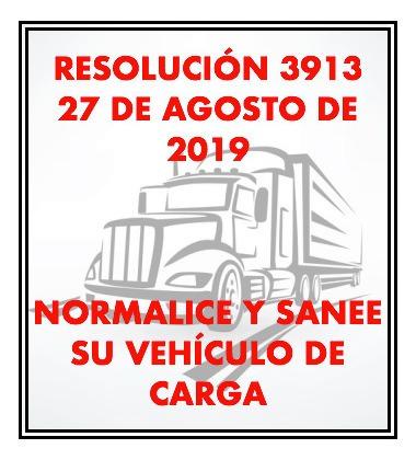 cupo camion servicio público - normalizacion / saneamiento
