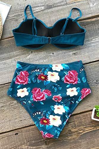 Para Cupshe Zafiro Diseño Azul Con Color De Bikini Mujer jUGVSMpqLz