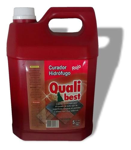 curador hidrofugo qualibest color rojo bidon 5lts