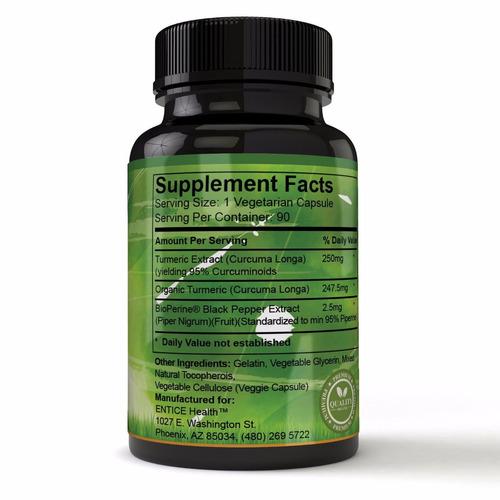 curcuma 500mg, 180 unidades antioxidantes y antiinflamatorio