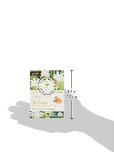 cúrcuma orgánica tradicional de medicinals con té de jengibr