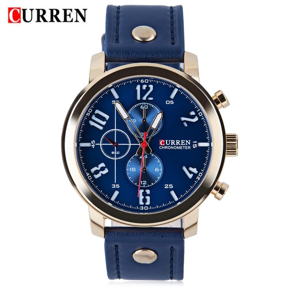 Curren 8192 Los Hombres Reloj De Cuarzo -   236.70 en Mercado Libre 39c0e87e92bd
