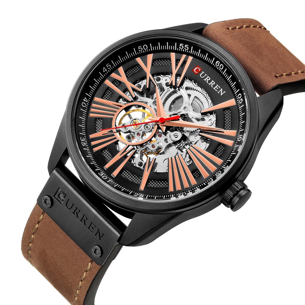 8299 Hombres Marca Reloj Curren Tourbillon Mecánico F13TlJcuK