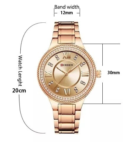 curren feminino relógio