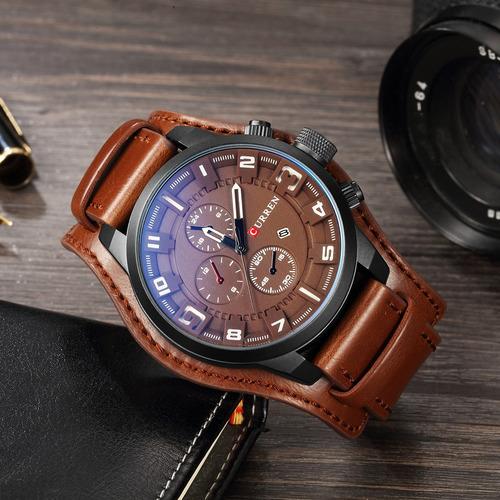 curren hombres deporte de cuarzo reloj moda calendario reloj