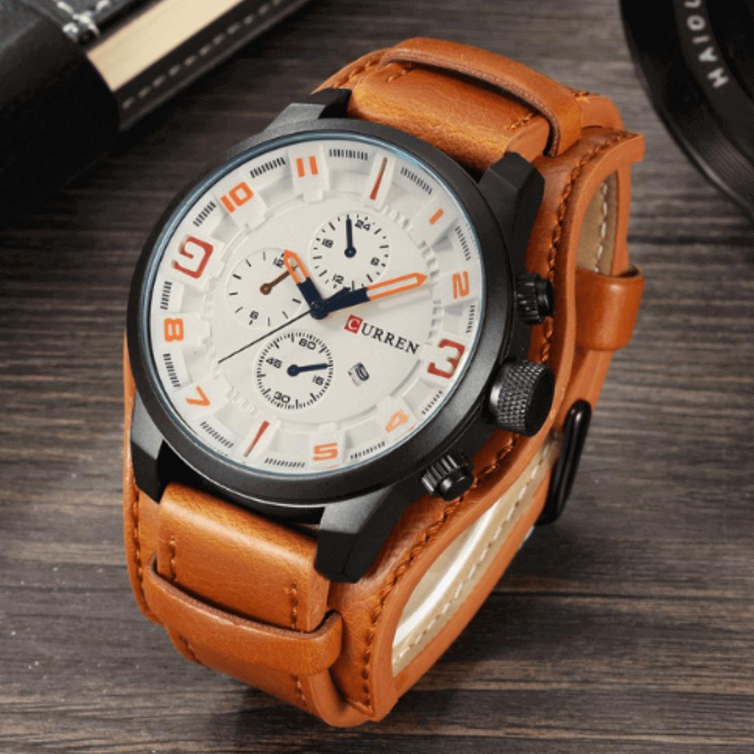 098442bb445 Carregando zoom... relógio curren original masculino sport fino promoção