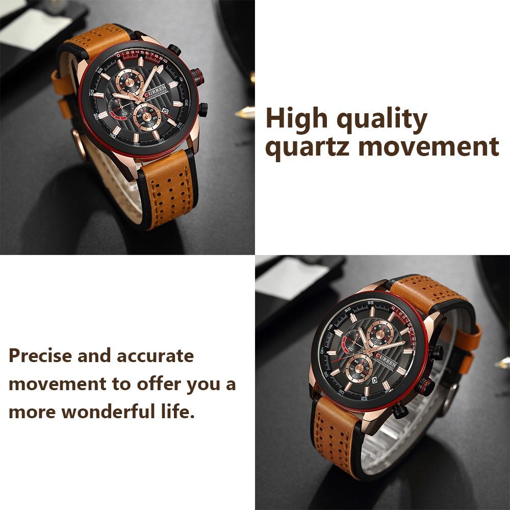 curren moda casual negocios hombres alto calidad reloj cuarz. Cargando zoom. 089c81ca3812