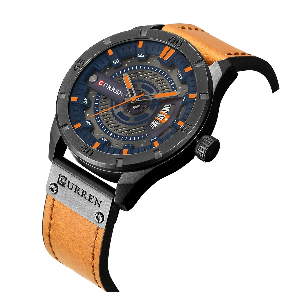 Curren Moda Genuino Cuero Hombres Vida Relojes 1atm -   7.669 en ... 11646c9790d0