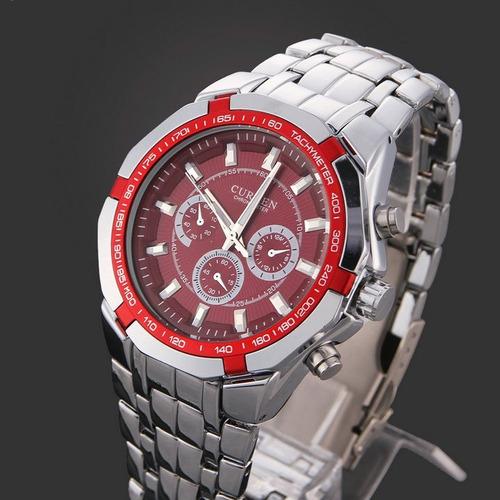 curren  relojes de hombres  analógicos deportes super oferta