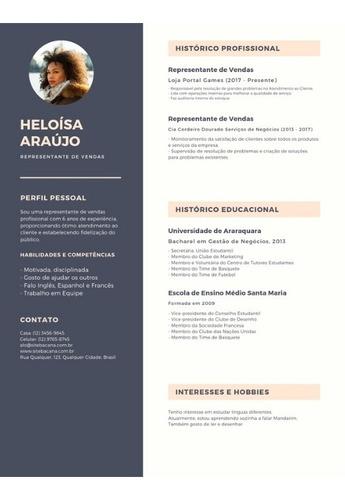 currículo personalizados