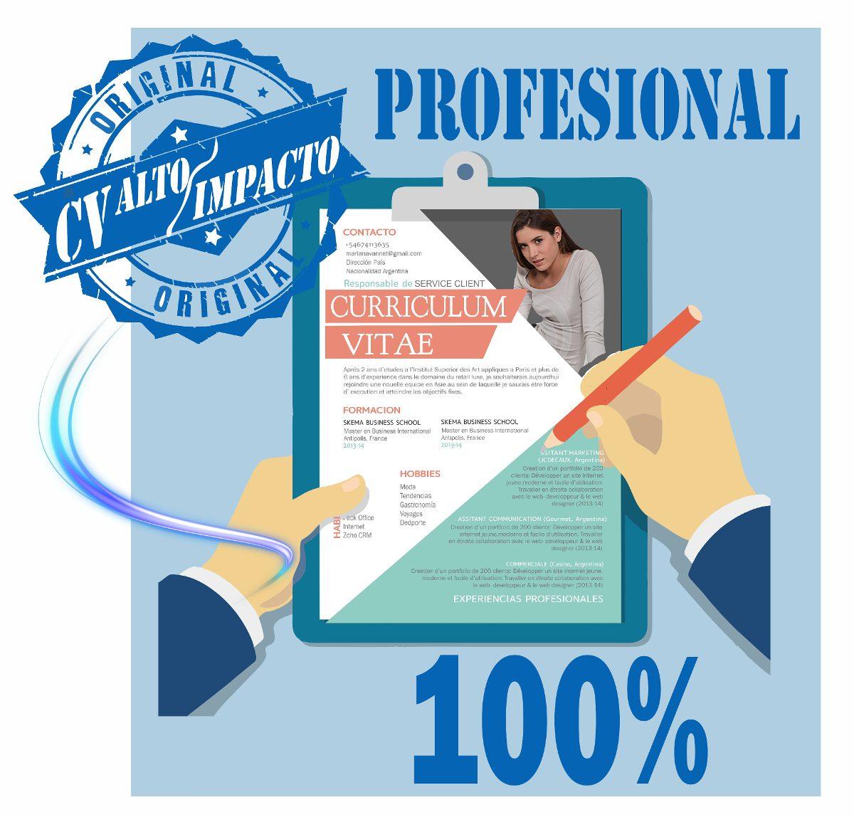 Curriculum Vitae Creación - Cv - Alto Impacto- Seriedad - $ 400,00 ...