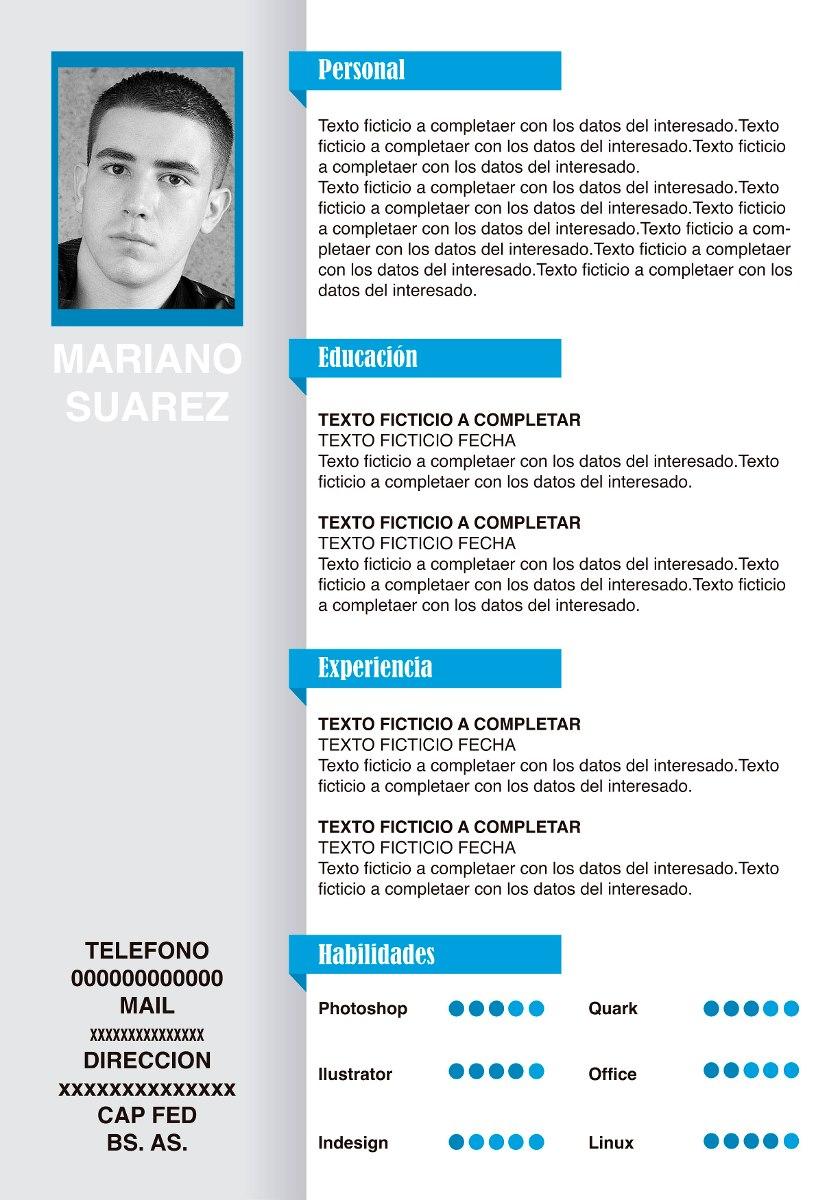 Curriculum Vitae Cv 300 00 En Mercado Libre