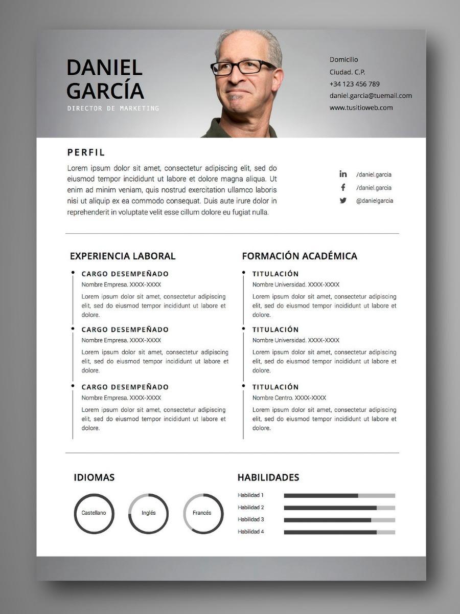 Curriculum Vitae Cv En Word Pdf Perfil En Bolsas De Trabajo - $ 299 ...