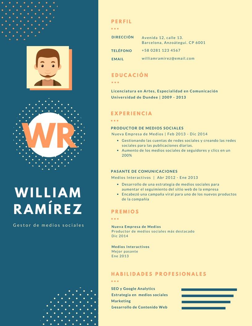 Curriculum Vitae Cv Modelo Basico 001 Bs 3 500 00 En Mercado Libre