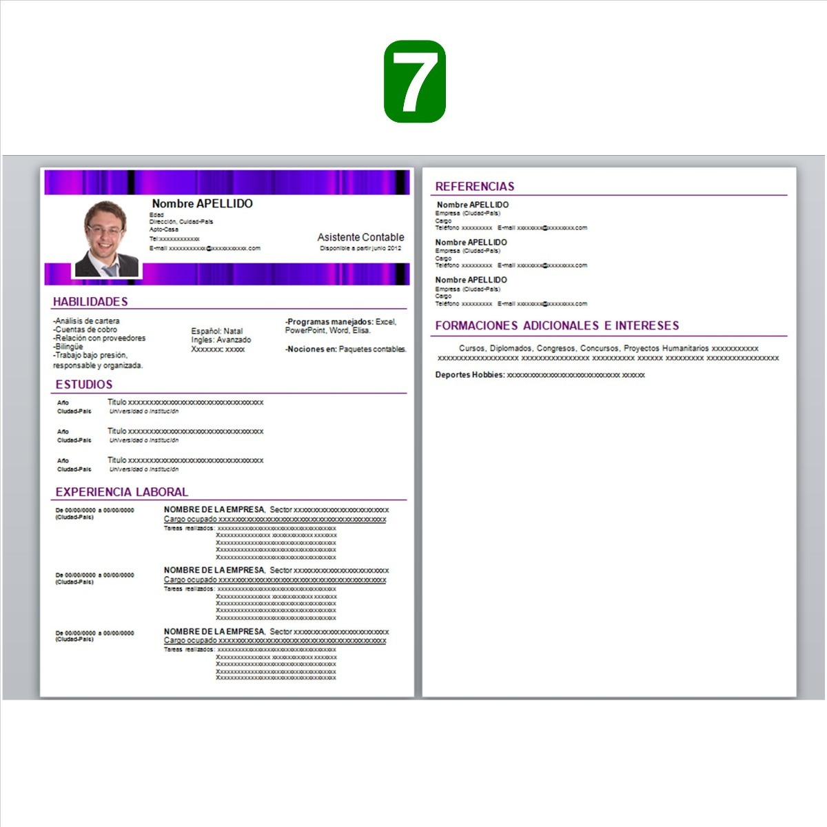 Curriculum Vitae En Formatos Digial - $ 100,00 en Mercado Libre